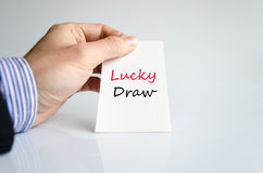 Lucky draw text concept Stock Images