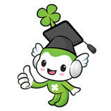 Lucky Fairy Mascot the hand best gesture. Nature Character Desig Stock Images