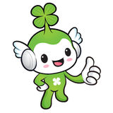 Lucky Fairy Mascot the hand best gesture. Nature Character Desig Royalty Free Stock Images