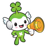 Lucky Fairy Mascot the hand is holding a loudspeaker. Nature Cha Stock Photography
