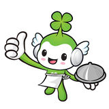 Lucky Fairy Mascot the hand is holding a pot. Nature Character D Royalty Free Stock Photography