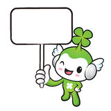 The Lucky Fairy mascot holding a board. Nature Character Design Royalty Free Stock Image