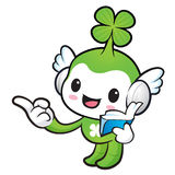 Lucky Fairy mascot the right hand guides and the left hand is ho Royalty Free Stock Image