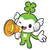 Lucky Fairy Mascot the right hand guides and left hand is holdin Stock Image