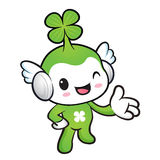 Lucky Fairy mascot Suggests the direction. Nature Character Desi Royalty Free Stock Images