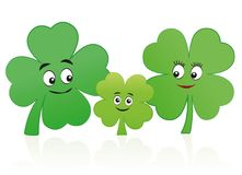 Lucky Family Clover Leaf Mother Father Child Royalty Free Stock Photos