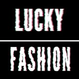 Lucky Fashion slogan, Holographic and glitch typography, tee shirt graphic, printed design. Lucky Fashion slogan, Holographic and glitch typography, tee shirt royalty free illustration