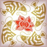 Lucky fish pattern Royalty Free Stock Images