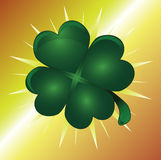 Lucky Four Leaf Clover. Four Leaf Clover Design Illustration vector illustration