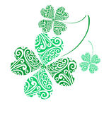 Lucky four leaf clovers. For st patricks day royalty free illustration