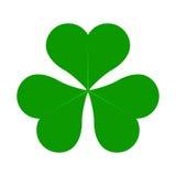 Lucky Four Leaf Irish Clover verde para el ejemplo del vector del día del St Patricks Fotografía de archivo libre de regalías