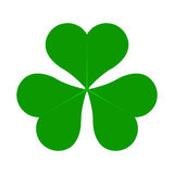 Lucky Four Leaf Irish Clover vert pour l'illustration de vecteur de jour de St Patricks Photographie stock libre de droits