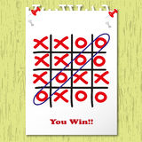 Lucky in game. You win lucky in game Royalty Free Stock Image