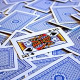 Lucky game. Playing cards are ready to play and win Stock Photos