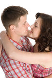 Lucky girl and guy Royalty Free Stock Photography