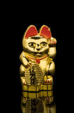 Lucky Gold Cat (China). This golden cat is a symbol of luck in Chinese culture stock images