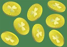 Lucky Gold Coin Charm Cartoon-Illustratie vector illustratie