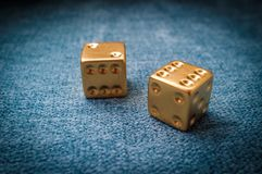 Lucky Golden Dice arkivbilder