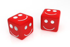 Lucky and Happy Dice Royalty Free Stock Image