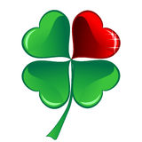 Lucky heart Clover Stock Images