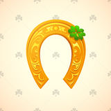 Lucky horse shoe as symbol for Saint Patricks Day Royalty Free Stock Images