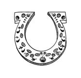 Lucky horseshoe cartoon Stock Photo