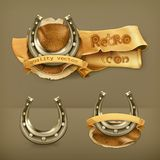 Lucky horseshoes  icons Royalty Free Stock Image
