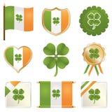 Lucky irish badges stock illustration