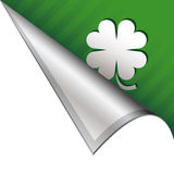 Lucky Irish corner tab Stock Images