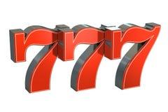 777 Lucky jackpot symbol Royalty Free Stock Photos
