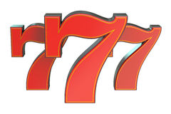 777 Lucky jackpot symbol Royalty Free Stock Images