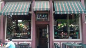 Lucky Joe & x27; forte Collins Colorado do bar de s Fotos de Stock Royalty Free