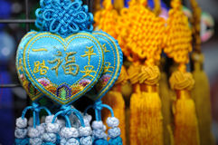 Lucky knot. For Chinese New Year decoration in Chinatown (Niu Che Shui), Singapore Royalty Free Stock Image