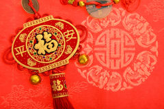 Lucky knot for Chinese new year. Greeting