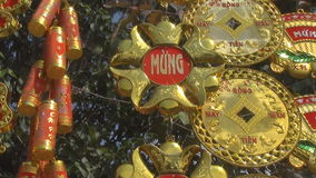 Lucky knot for Chinese New Year decoration. A Lucky knot for Chinese New Year decoration
