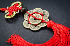 Lucky knot for Chinese new year greeting Royalty Free Stock Photo