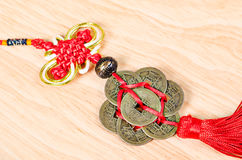 Lucky knot for Chinese new year greeting. Stock Images