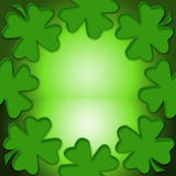Lucky Leaf. Four leaf lucky clover for inspiration and a bright future Royalty Free Stock Photos