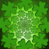 Lucky Leaf. Four leaf lucky clover for inspiration and a bright future Stock Photography