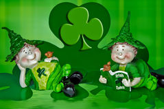 Lucky Leprechauns Stock Photography