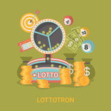 Lucky life concept vector illustration Fortune Fla Stock Photography