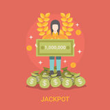 Lucky life concept vector illustration set Fortune Royalty Free Stock Photo