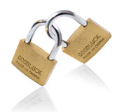 Lucky locks isolated on white background Stock Photo