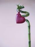 Lucky Love - corazón del amor y palillo 4 del bambú Imagen de archivo libre de regalías