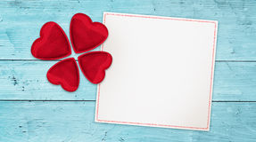 Lucky love wishing banner Stock Images