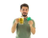Free Lucky Man And A Bier Mug. Stock Image - 88531761