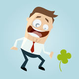 Lucky man Royalty Free Stock Photo