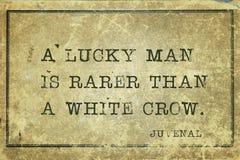 Lucky man Juvenal stock image
