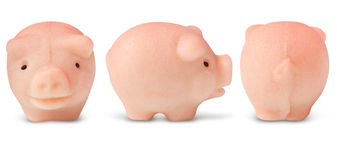 Lucky marzipan pig Royalty Free Stock Photography