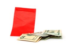 A lucky money. The lucky money in lunar year Stock Photography